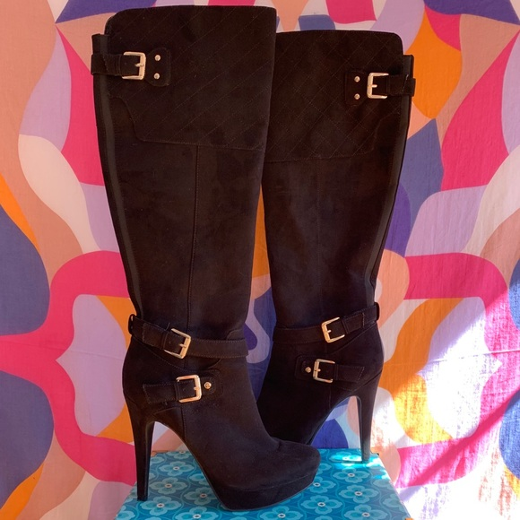 official photos detailed look outlet Shoes | Guess Knee High Suede Platform Boots 9 | Poshmark